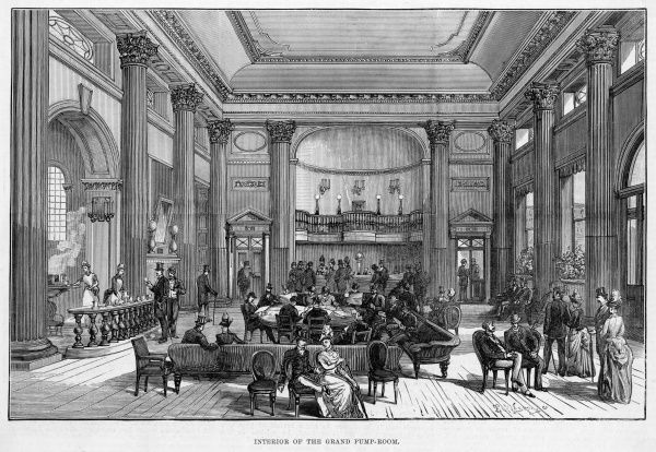 Interior of the Grand Pump Room at Bath, Avon