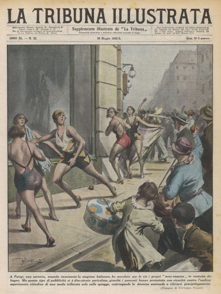 When a Paris couturier stages a show of bathing fashions, his models are attacked by Parisian women affronted by the display