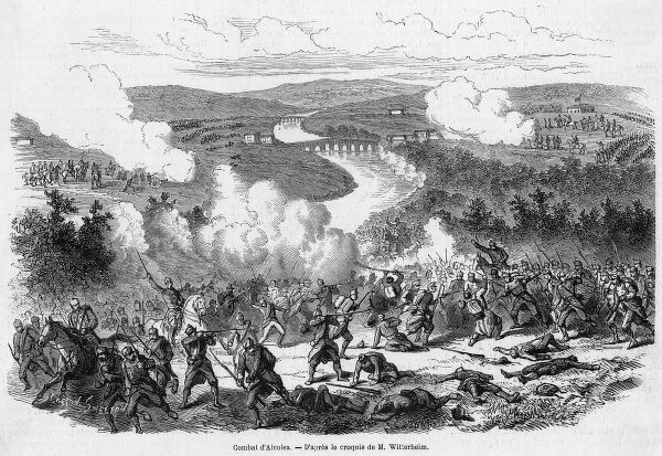 The royalists under Novaliches are defeated by the republicans under Serrano, a decisive battle after which Isabela flees to Paris and is formally deposed