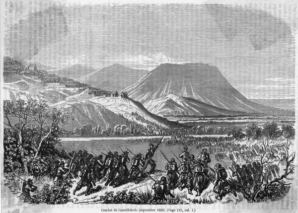 The Piedmontese rout the papal forces under La Moriciere, leaving him with only a few hundred men