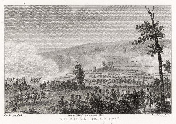 At the battle of HANAU the French under Napoleon defeat the Bavarians under Wrede