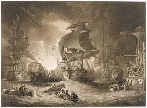 EGYPTIAN CAMPAIGN Battle of the NILE (also known as ABOUKIR BAY) - Nelson sinks all but two of the French fleet