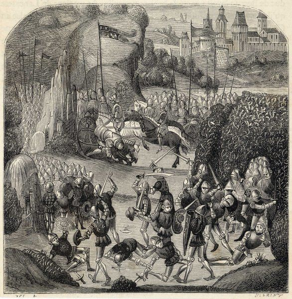 WAR OF SCOTTISH INDEPENDENCE Henry Percy (Hotspur) attacked the Scottish entrenchments and was totally defeated. The battle is celebrated in the Ballad of Chevy Chase
