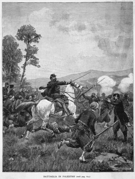 The Piedmontese defeat the Austrians at the battle of Palestro : some French troops also take part