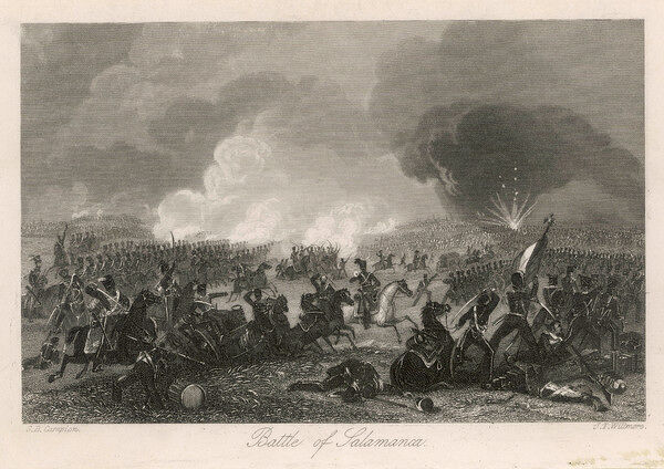 Wellington decisively defeats the French under Marmont at Salamanca, destroying the French army at relatively little cost