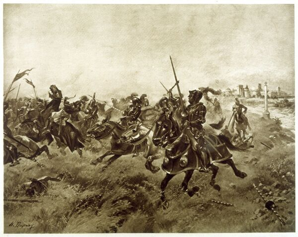 'Battle of the Spurs' - The French defeated at Guinegatte by invading allies