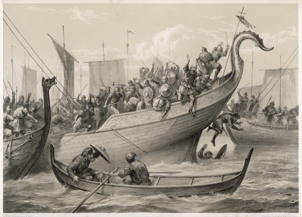 The Battle of Svolder - the Danes defeated the Norwegians