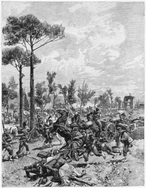 Though outnumbered 2 to 1, Garibaldi's forces defeat the Neapolitans at Volturno, and proceed to take Capua