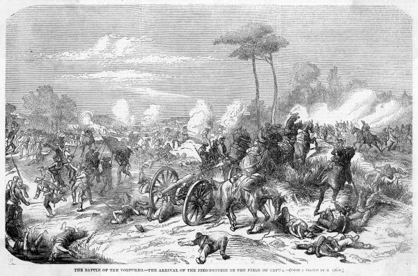 The Piedmontese forces arrive on the field of battle : the Neapolitans are overcome, and Garibaldi takes Capua