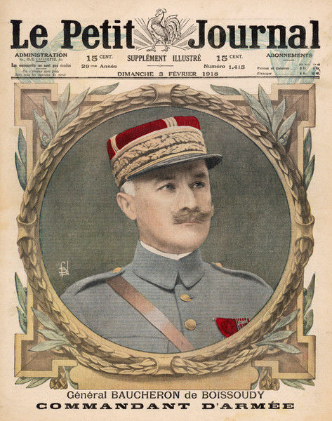 General Baucheron de Boissoudy, commander of the French Seventh Army in World War One from 1917 to 1918