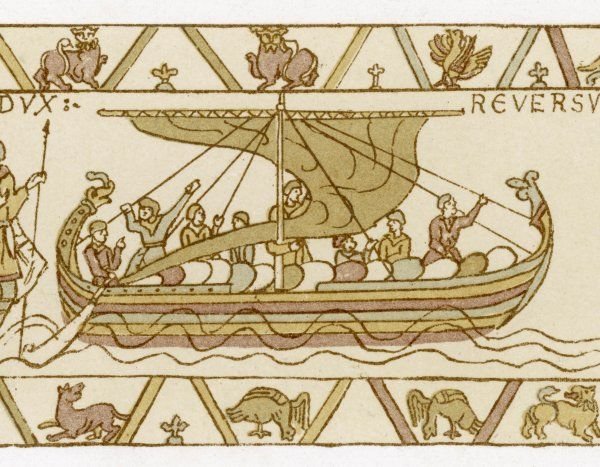 Vessel in which Harold returned to England after visiting William in Normandy