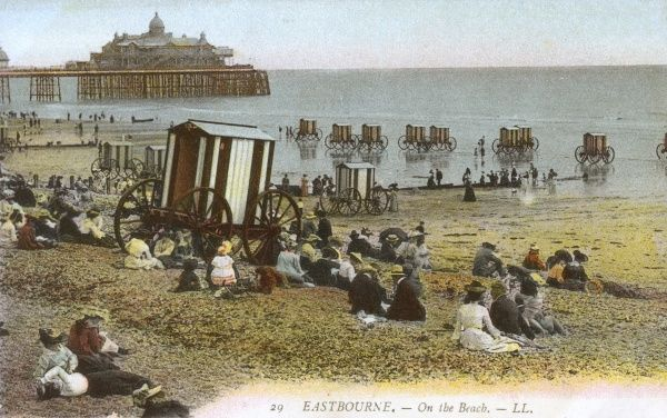 The Beach - Eastbourne Date: circa 1900