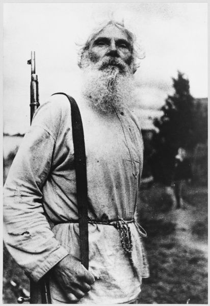 A Tolstoy-like figure, this World War One veteran has known more war than peace, and is now a resistance fighter, once again fighting the German invaders of his homeland