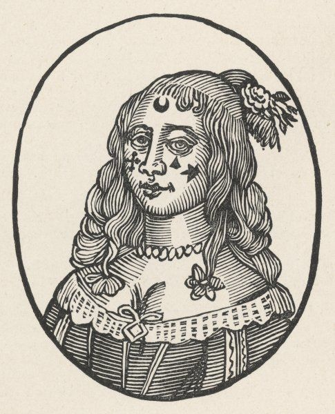 Fashionable ladies of late 17th century London stuck stars and suchlike ornaments onto their faces, believing they made them attractive