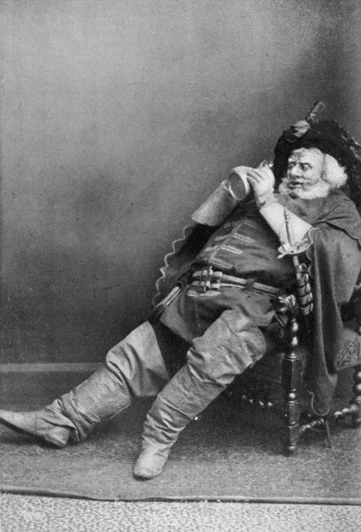 Sir HERBERT DRAPER BEERBOHM TREE. English actor in the roll of Falstaff in Shakespeare's Merry Wives of Windsor