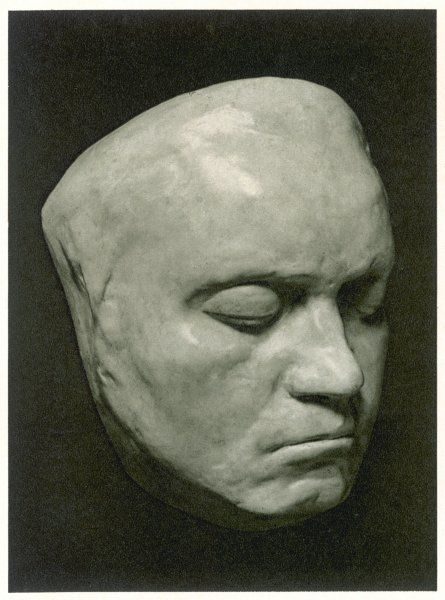 LUDWIG VAN BEETHOVEN Death mask of the German Composer