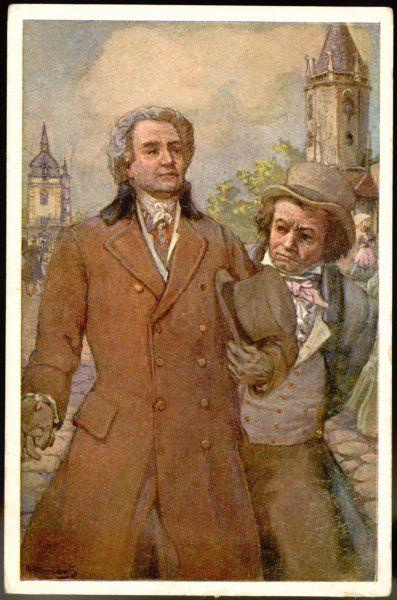 LUDWIG VAN BEETHOVEN with Goethe at Teplitz