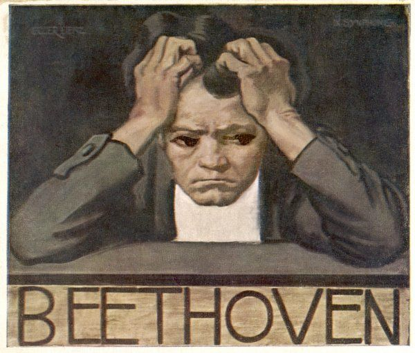 LUDWIG VAN BEETHOVEN Beethoven sits, head in hands, and struggles with his inner demons as he composes his Ninth Symphony