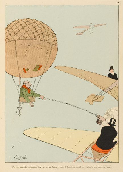 While the wealthy flit about the skies in their private aeroplanes, beggars must make do with balloons, aged and patched