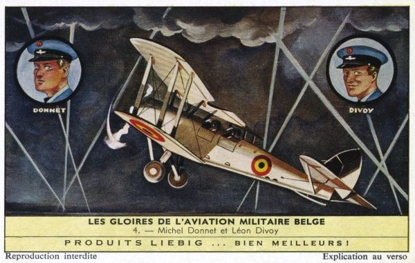 Michel Donnet and Leon Divoy, after the German defeat of Belgium, find and repair an old aeroplane and make a daring escape to England where they fight with great success. Date: 1916+