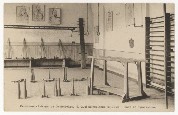 Equipment for gymnastics at a Belgian girls' school