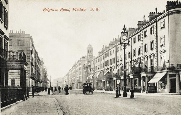 View looking down Belgrave Road, Pimlico, London