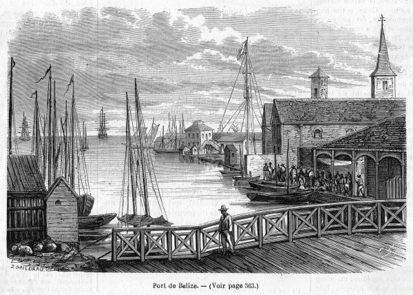 Scene in the harbour : at this time, Belize was part of British Honduras