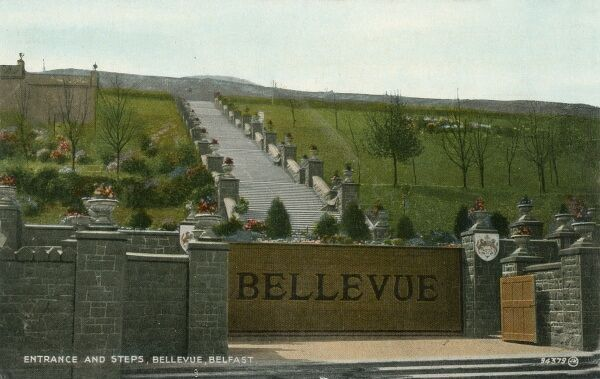 The Bellevue Park in Belfast was a popular recreational facility between the two world wars, providing gardens, ponds, amusements, refreshments, and a miniature railway for the entertainment of visitors