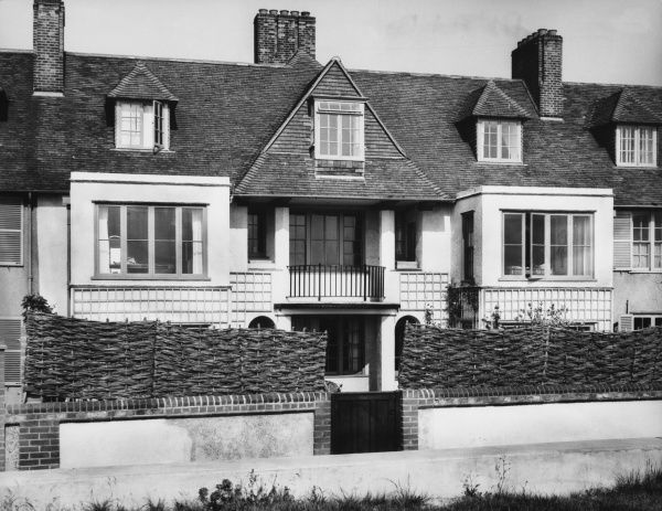 BENJAMIN BRITTEN The charming residence of the famous English composer, Benjamin Britten (1913 - 1976) 'Crag House' on the sea front at Aldeburgh, Suffolk, England