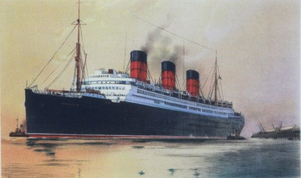 Cunard passenger liner Berengaria, formerly the Imperator steam ship. Largest passenger ship in her day