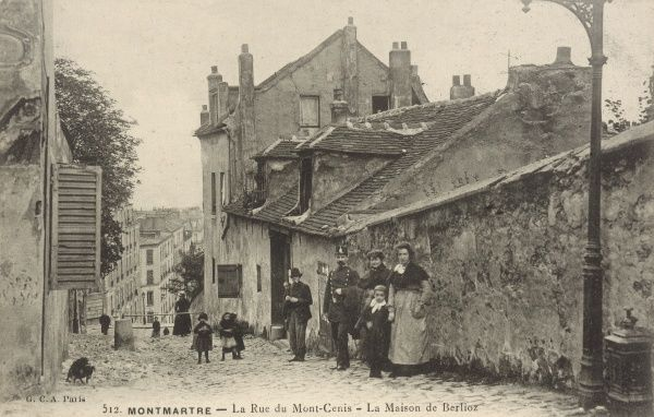 The home of Hector Berlioz in la Rue du Mont-Cenis, Montmartre (Paris)