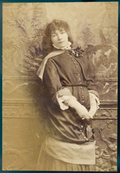 SARAH BERNHARDT French actress in thoughtful mood