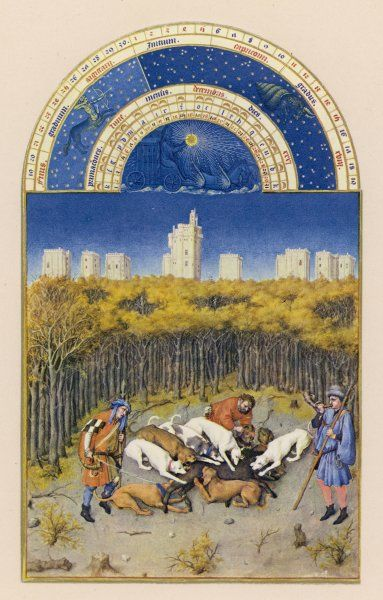 DECEMBER Near the chateau de Vincennes, dogs bring down a wild boar
