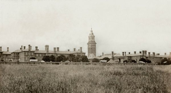The Northampton County Lunatic Asylum was designed by Robert Griffiths and opened in 1876 at a site on Berrywood Road, Duston, Northampton. It later became St Crispin Hospital