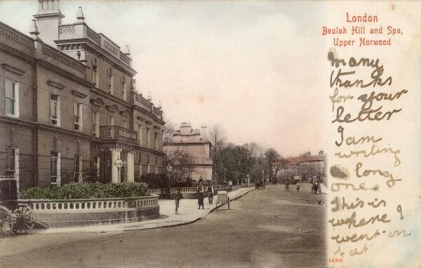 Beulah Hill and Spa - Upper Norwood, London Date: 1905