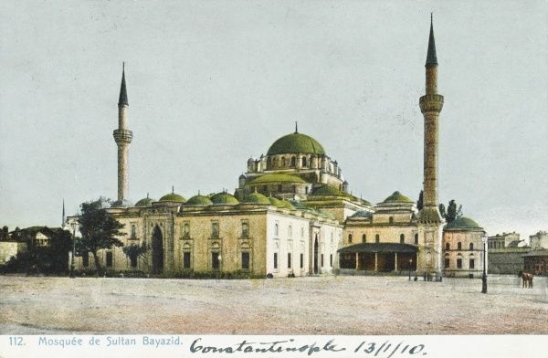 The Beyazidiye Mosque (built between 1501-1506) in Constantinople. The Mosque encorporated a number of educational buildings, public baths and tombs (turbes)