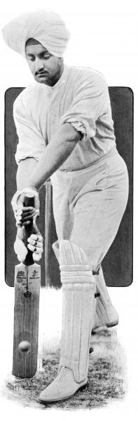 Maharajah Bhupinder Singh of Patiala (1891 - 1938) playing cricket. Perhaps best known for his extravagance, the Maharajah nevertheless worked for the betterment of social conditions within his kingdom. He was also a great patron of the sports