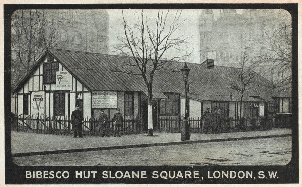 Bibesco Hut, Sloane Square, London. Used to house the Y.M.C.A