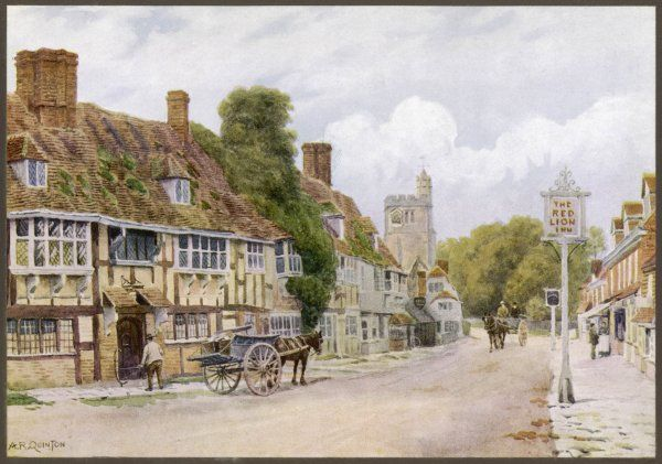 A quiet street in Biddenden, Kent