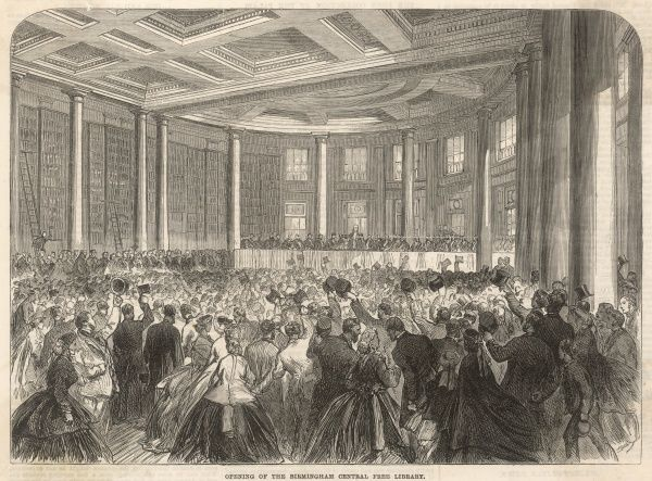 The opening ceremony of the Birmingham Central Free Library