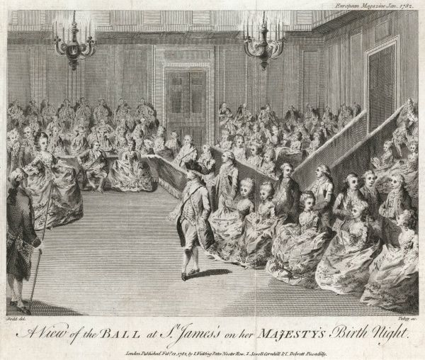 The birthnight of George III is celebrated with a ball at Saint James's Palace, London