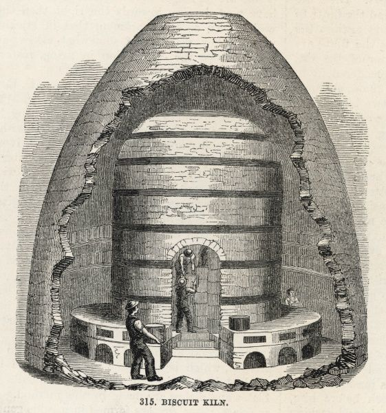 Interior of a biscuit kiln