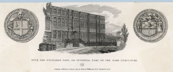 A view of the Bishopsgate workhouse in London