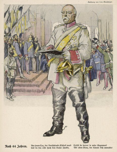 OTTO EDUARD LEOPOLD, depicted at the proclamation of the German Empire at Versailles