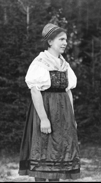 'Miss Stander - Queen of the Watchmakers', in her traditional Black Forest costume