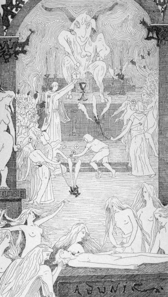 Celebrating the Black Mass, according to Ezekiel, and according to the French magician Vintras Date