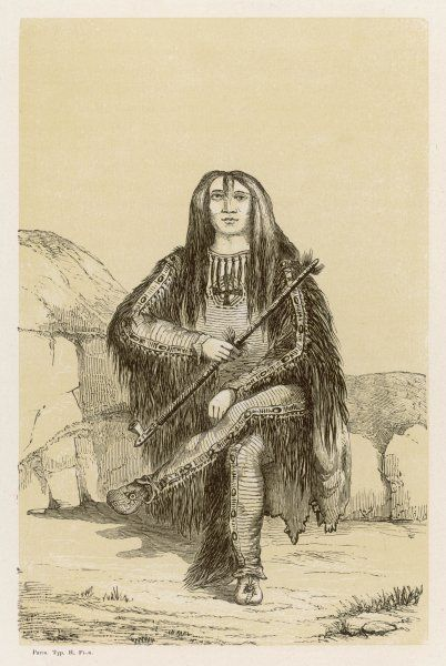 Man of the Blackfeet people (here named 'Satsikaa')