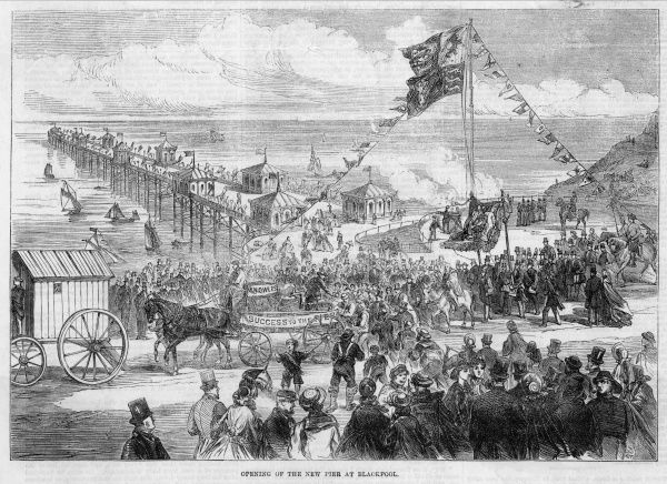 Opening of the new pier at Blackpool, Lancashire, adding yet another attraction to this popular holiday resort