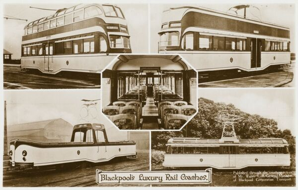 Blackpool's 'Luxury' Tram Cars, including double ('Balloon') and single decker varieties and a fully open boat tram