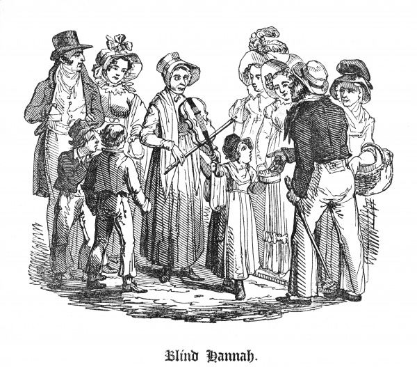 Hannah Brentford, blind musician of Bunhill-row, shown here aged 24 giving a street performance of hymns, accompanied by her violin